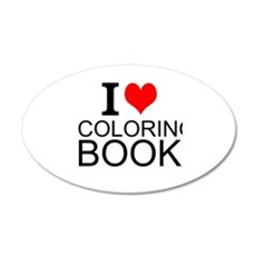 I Love Coloring Books Wall Decal