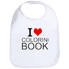 I Love Coloring Books Bib