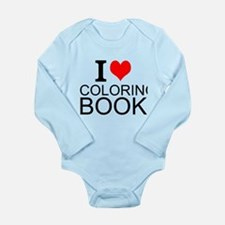 I Love Coloring Books Body Suit