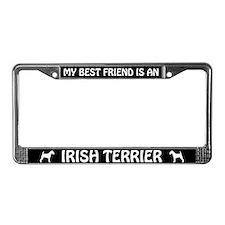 My Best Friend Is An Irish Terrier License Frame