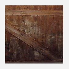 primitive farmhouse barn wood Tile Coaster