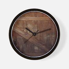 primitive farmhouse barn wood Wall Clock