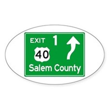 NJTP Logo-free Exit 1 Salem County Decal