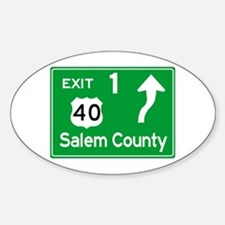 NJTP Logo-free Exit 1 Salem County Decal