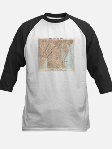 Vintage Map of The Chesapeake Bay Baseball Jersey