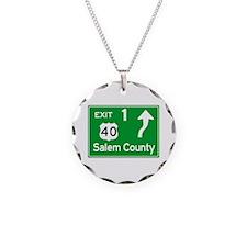 NJTP Logo-free Exit 1 Salem Necklace Circle Charm