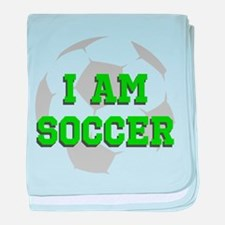 I Am Soccer baby blanket
