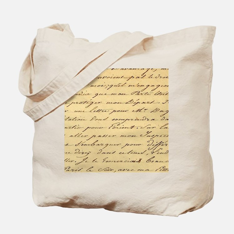 shabby chic french script  Tote Bag