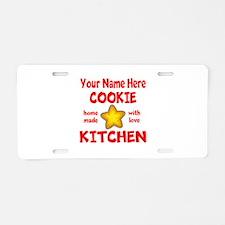 Cookie Kitchen Aluminum License Plate