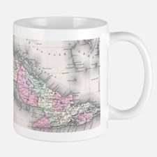 Vintage Map of Cuba (1861) Mugs