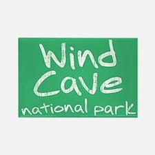 Wind Cave National Park (Graffiti) Rectangle Magne