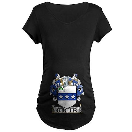 Weir Coat of Arms Maternity Dark T-Shirt