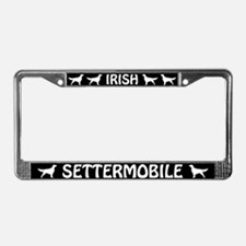 Irish Settermobile License Plate Frame