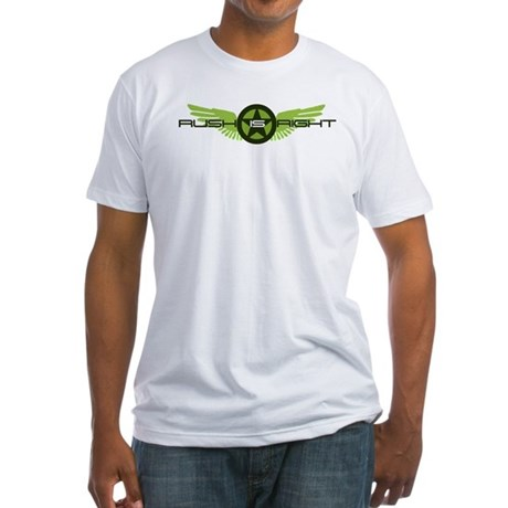 Rush is Right Wings Fitted T-Shirt