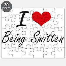 I love Being Smitten Artistic Design Puzzle