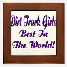 DIRT TRACK GIRLS... Framed Tile