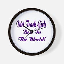DIRT TRACK GIRLS... Wall Clock