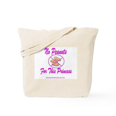 No Peanuts For This Princess Tote Bag
