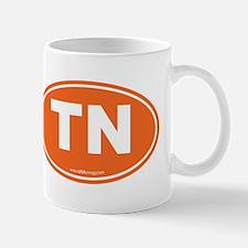 Tennessee TN Euro Oval Mug