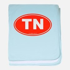 Tennessee TN Euro Oval baby blanket
