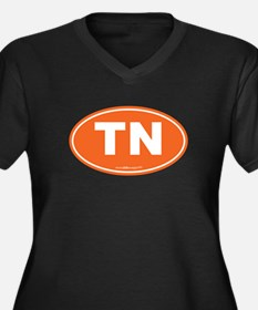 Tennessee TN Women's Plus Size V-Neck Dark T-Shirt