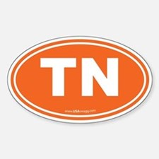 Tennessee TN Euro Oval Sticker (Oval)