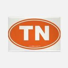 Tennessee TN Euro Oval Rectangle Magnet