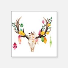 Christmas Deer Skull With Ornaments Sticker