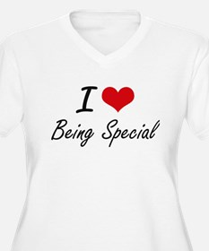 I love Being Special Artistic De Plus Size T-Shirt