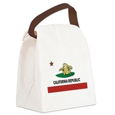 Surfing Cali Sloth Canvas Lunch Bag