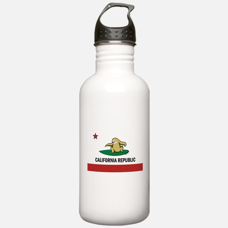 Surfing Cali Sloth Water Bottle