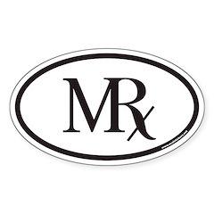 MRx Pharmacy Euro Oval Decal