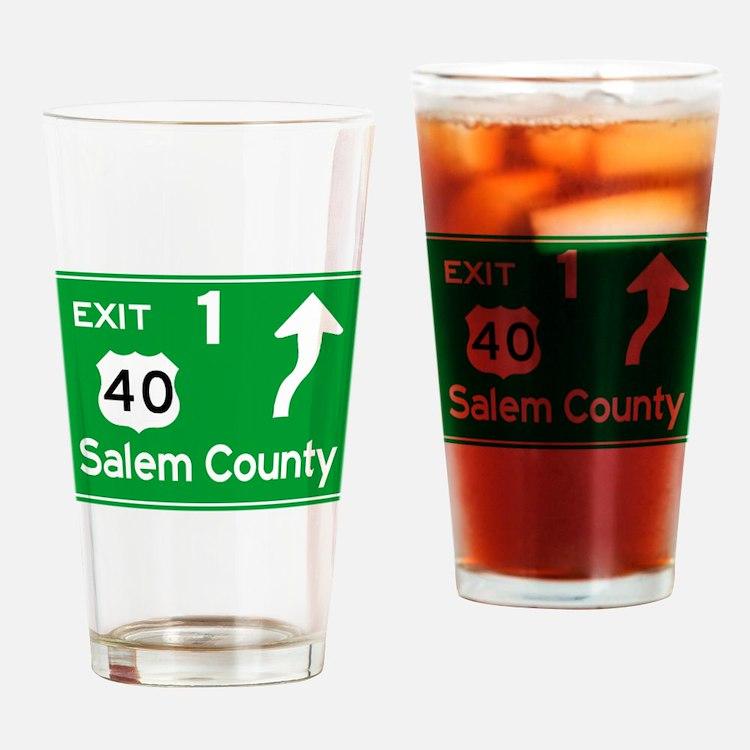 NJTP Logo-free Exit 1 Salem County Drinking Glass