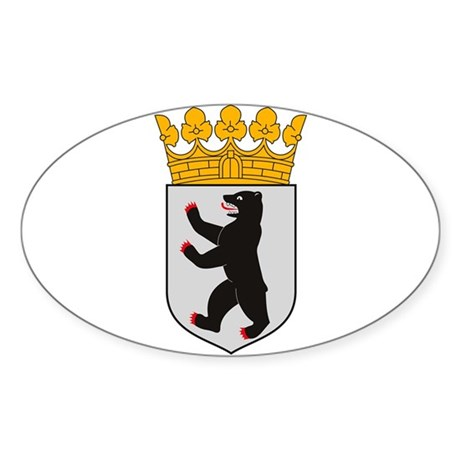 Berlin Coat of Arms Oval Sticker