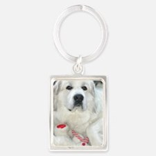 great pyrenees with teddy bear Keychains