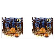 Witchy Halloween Canvas Art