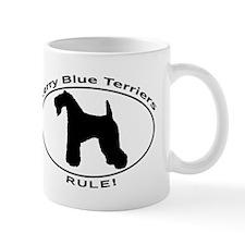 KERRY BLUE TERRIERS RULE! EUROPEAN OVAL DESIGN Mug