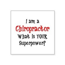 "chiropractor Square Sticker 3"" x 3"""
