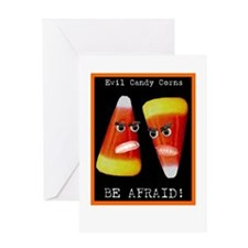 Evil Candy Corns Greeting Card