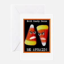 Evil Candy Corns Greeting Card