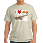 I *HEART* My Sax Ash Grey T-Shirt