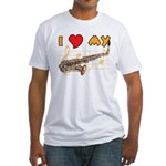 I *HEART* My Sax Fitted T-Shirt