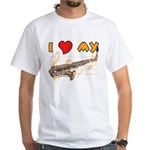 I *HEART* My Sax White T-Shirt