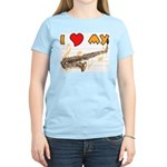 I *HEART* My Sax Women's Pink T-Shirt
