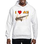 I *HEART* My Sax Hooded Sweatshirt