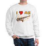 I *HEART* My Sax Sweatshirt
