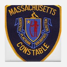 Massachusetts Constable Tile Coaster