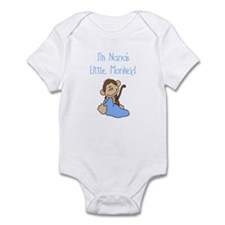 Nana's Monkey (blue) Infant Bodysuit
