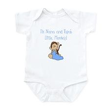 Nana, Papa's Monkey (blue) Infant Bodysuit