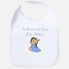 Nana, Papa's Monkey (blue) Bib